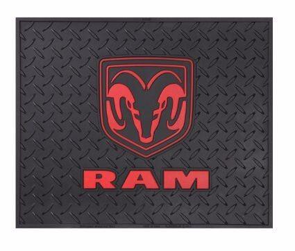 dodge ram logo rear utility mat welcome shop garage bar man cave suv floor back