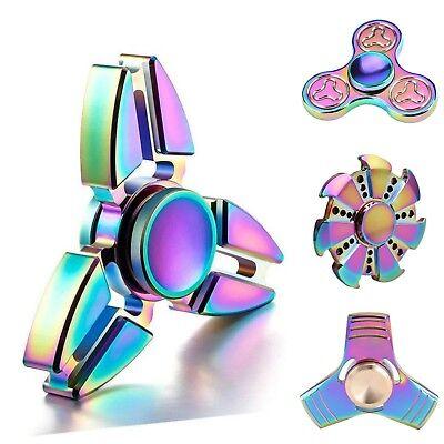 Buy1Get1 50/% RAINBOW Fidget Spinner Finger Fun Toys Spin Xmas Gift Present Idea