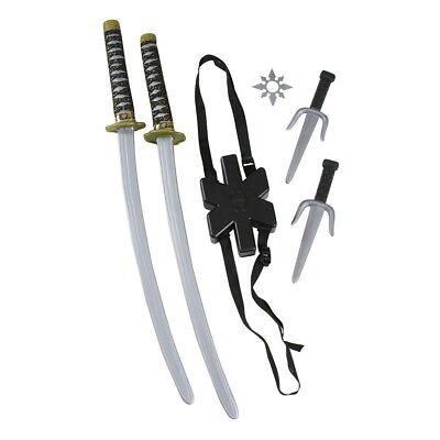 Doppel Ninja Schwert Kampfsport Ninja Kämpfer Kostüm Zubehör