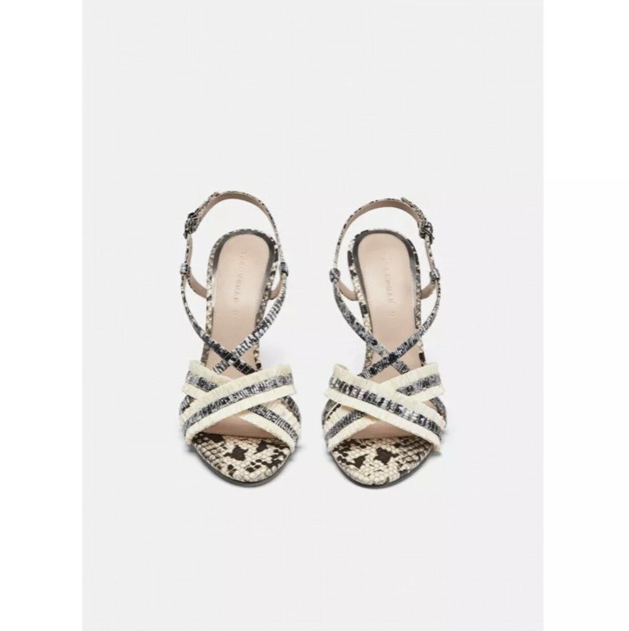 NWT Leopard    Snakeskin Stampa Sandals calibro US 9 REF 1324  301  outlet in vendita