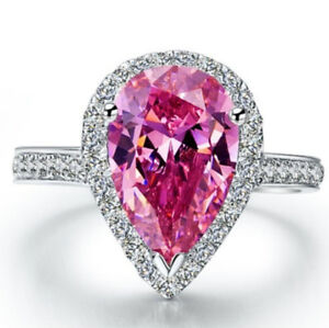 Very-Pretty-Pear-Cut-Rainbow-And-Pink-Topaz-Sterling-Silver-Ring-Pear-Cut-Ring