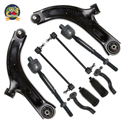 12pc Lower Control Arm w//Ball Joint Tierod End Kit for 2007-2013 Nissan Altima