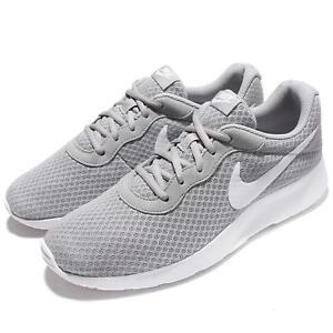 75c579e1c47db6 Nike Tanjun Wolf Grey White NSW Mens Running Shoes 812654-010
