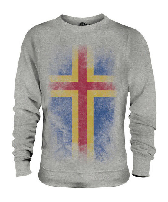 ALAND FADED FLAG UNISEX SWEATER TOP FOOTBALL GIFT SHIRT CLOTHING JERSEY