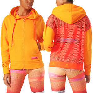 Image is loading adidas-Stellasport-Zip-Mesh-Hoodie-Stella-McCartney-Gym- c616b217be