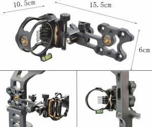 7-Pin-Compound-Bogen-Visier-Micro-Einstellbar-0-019-Optical-Fibre-Jagdvisier