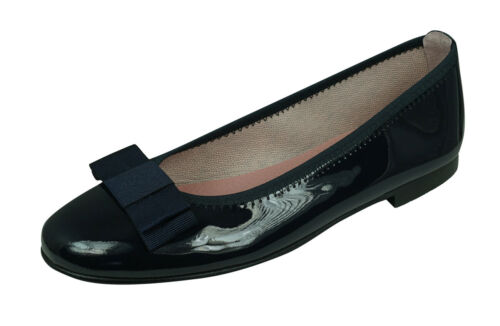 Angela Brown Payton Girls Patent Leather Ballerina Shoes School Pumps Navy Blue