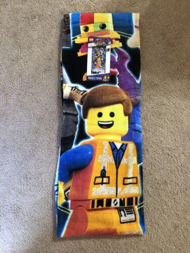 "Lego Movie 2 28/"" x 58/"" Kids Beach Bath Pool Towel NWT"