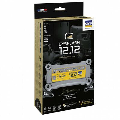 Chargeur de batterie GYSFLASH 12.12 pour batterie 12V de 20