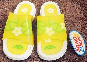 f889ce2da39ee Sand N Sun Children s Beach Sandals Yellow   Green Size XL (2-3)