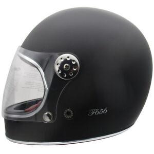 Casque En Forme De Bite bite the bullitt avec ce viper f656 vintage casque motocycle en noir