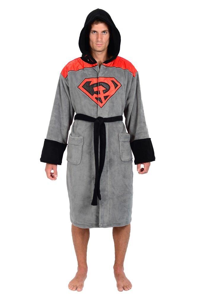 DC Comics Superman ROT Son Hooded Fleece Robe