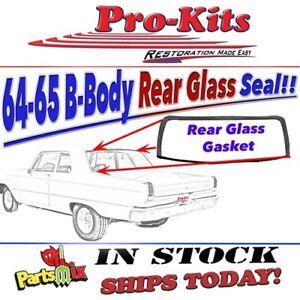 Fits 64 65 Coronet 440 Belvedere Satellite Rear Window Weatherstrip Gasket Seal