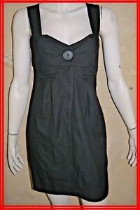 COP-COPINE-Taille-40-Superbe-robe-grise-bretelles-modele-CANABIS-Dress