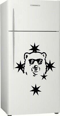 585 x 400mm Rum Sticker Decal Personalised Bundy Bear Fridge Gift 1 Bar