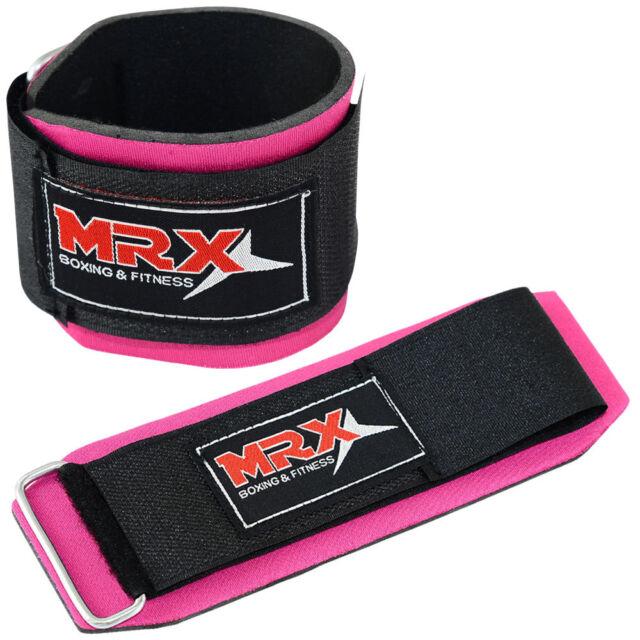 Weight Lifting Wrist Wraps Fitness Training Straps Bandages Locking Pink