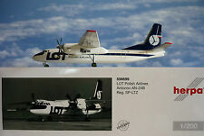 Herpa Wings 1:200  Antonov AN-24B Lot Polish Airlines SP-LTZ  556699