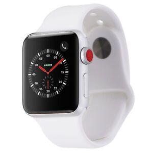 Apple Watch Series 3 38mm A1860 Silver Aluminum Case White Sport Band Gps Lte 793407573603 Ebay