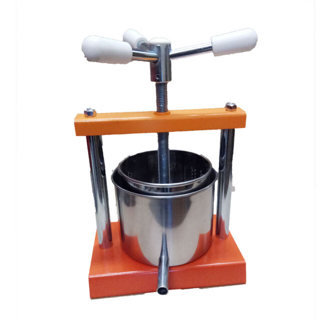 Free postage Italy Made 1.3L Multi-purpose Cheese// Wine//Cider Making Steel Press