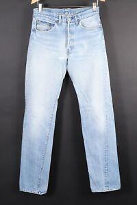 VTG 80s LEVI'S 501 Button Fly Denim Jeans USA Mens Size 32x40 Actual (30x36)