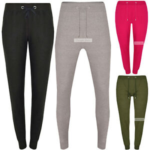 LADIES-SLIM-FIT-LOUNGE-PANTS-BOTTOMS-WOMEN-SPORTS-TRAINING-JERSEY-SWEAT-TROUSER