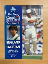 4-8 JUNE 1992 ENGLAND vs PAKISTAN EDGBASTON CRICKET OFFICIAL SOUVENIR PROGRAMME