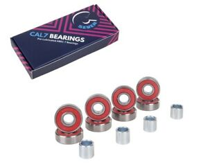 CAL 7 Abec7 BEARINGS 8 pcs PRO LONGBOARD SKATEBOARD BEARINGS SPACER