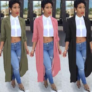 Women-Plus-Cloak-Cardigan-Outwear-Long-Poncho-Cape-Coat-Jacket-Blazer-Suit-Shawl