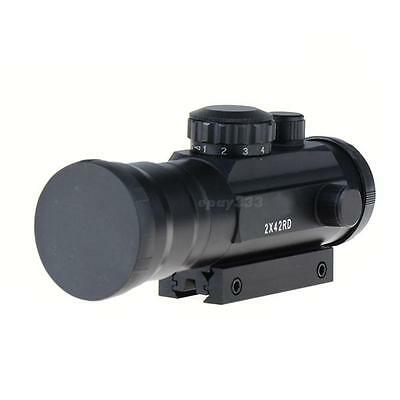 2x42 Green & Red Dot Reflexible Rifle Scope 2 Times Magnification Sight EPYG