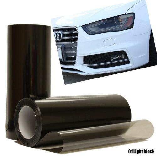 Smoked Glossy Black 30x100cm Car Headlight Fog Rear Tail Wrap Tint Vinyl Film