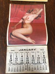 Authentic 1955 Marilyn Monroe Calendar Golden Dreams Original