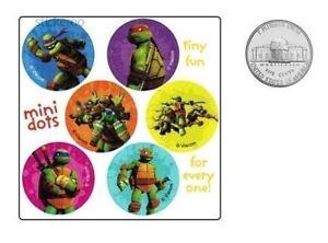 60 TMNT Teenage Mutant Ninja Turtles Dot Sticker Birthday Party Bag Favor Supply