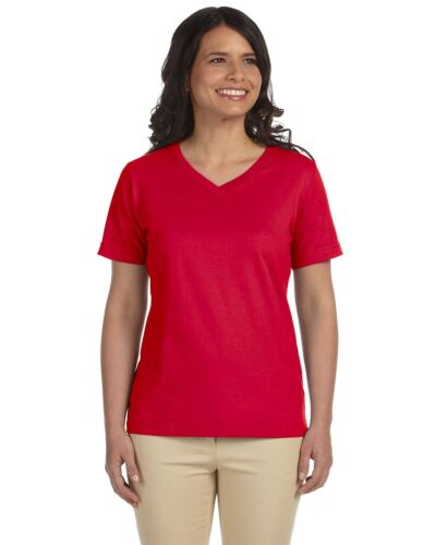 LAT Ladies/' V-Neck Premium Jersey T-Shirt-L-3587