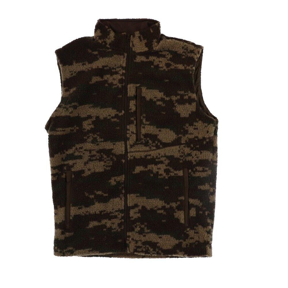 Pursuit Gear Men's Berber Wool Vest Vintage Brown Camo  Pattern  check out the cheapest