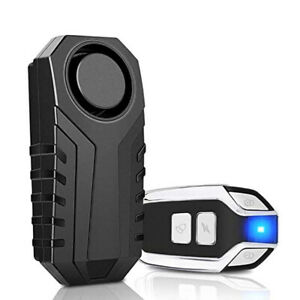 113dB Security Alarm Remote Wireless AntiTheft Vibration Motorcycle Bicycle