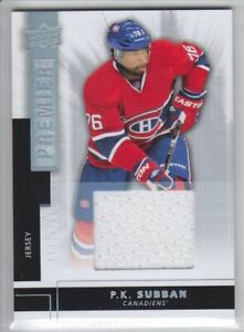 2014-15-UD-PREMIER-P-K-SUBBAN-JERSEY-125-GAME-USED-SILVER-15-Upper-Canadiens