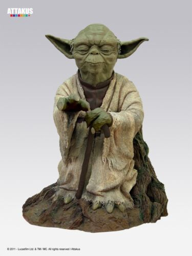 Attakus Star Wars: Yoda using the Force Statue Monument Statue 55 cm