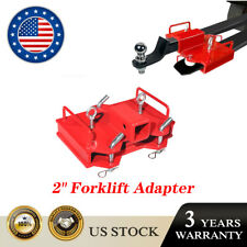 2 Trailer Hitch Receiver Dual Pallet Fork Forklift Towing Adapter Attachment
