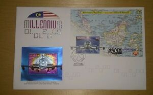 Royal-Selangor-Pewter-Niobium-Stamp-FDC-Millennium-1999-2000-The-Aeroplane