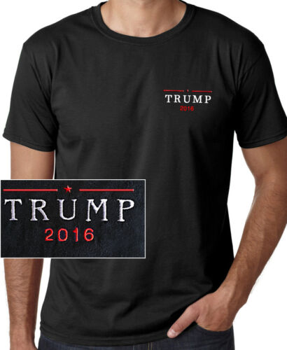 Donald Trump 2016 EMBROIDERED Republican Short Sleeve Black T-shirt Presidential