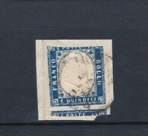 Italy Naples Stamp 15c Franco Bollo On Piece As Scans (2 Scans)