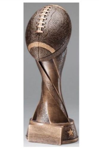 """ENGRAVED FREE ****FOOTBALL SPIRAL RESIN TROPHY 10 1//2/"""" TALL SPEEDY SHIPPING!!"""