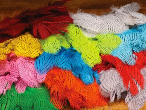 Dyed Silver Pheasant Body FeathersSuper QualityFly Tying Materials