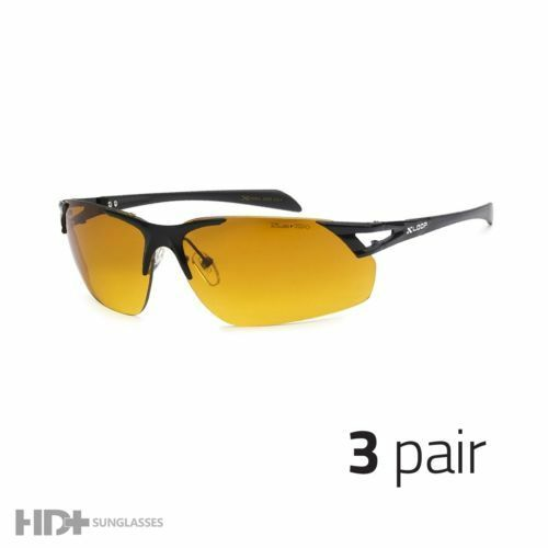 3 Pair Hd Driving Metal Aviator Sunglasses Blue Blocker High Definition Black P