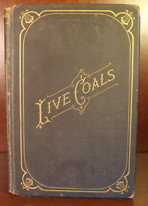 Details About Live Coals Mary Hall Buffalo New York Poetry Book 1878 Rare Poems Literature