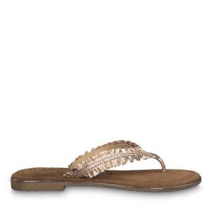 Details zu Tamaris 1 1 27110 22 952 Schuhe Damen Leder Zehentrenner Pantoletten Minu rose