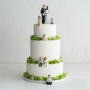 Children Figurines Blended Family Wedding Cake Topper | eBay