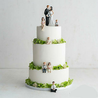 Children Figurines Blended Family Wedding Cake Topper Ebay
