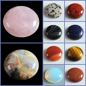 Wholesale-25mm-Round-cabochon-CAB-flatback-semi-precious-gemstone-Save-in-bulk