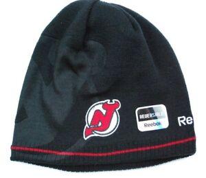 04b72262d8f New Jersey Devils Reebok NHL Reversible Knit Hockey Hat Beanie Toque ...